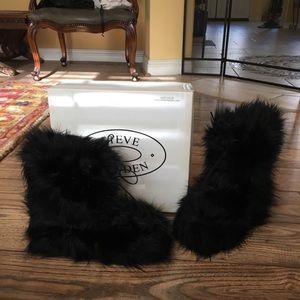 Steve Madden Furry/Fur Boots!